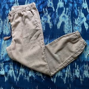 Natural Linen taupe rose madewell pants